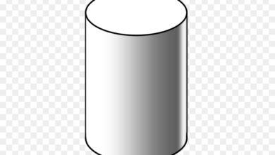 شكل ثلاثي الابعاد يمكن ان يصنع باستعمال دائرتين ومستطيل