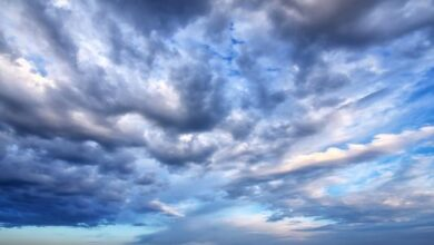 تُصنف الغيوم اعتمادًا على ارتفاعها عن سطح الارض