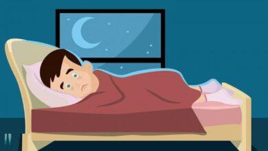 إذا كان معدل نوم الشاب اليافع 8 ساعات يوميًا ، فإن نسبة ما ينامه من اليوم يساوي