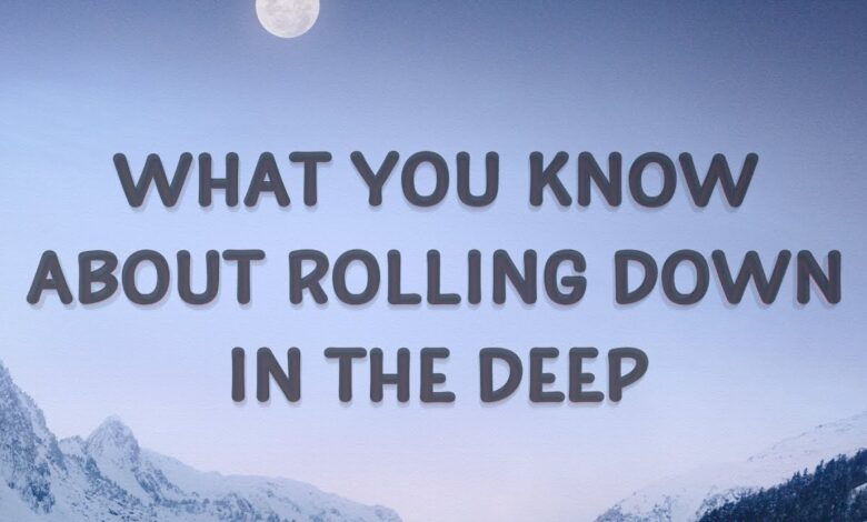 كلمات أغنية مترجمة what you know about rolling