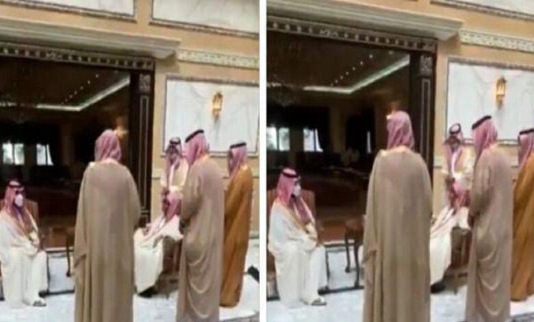 ولي العهد يزور معالي الشيخ ناصر الشثري لتهنئته بحلول عيد الفطر